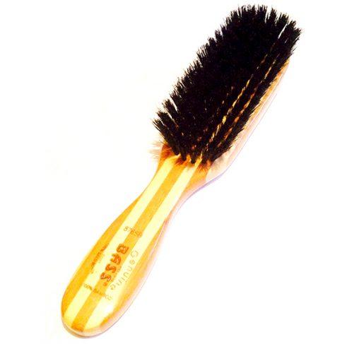 Bass - מברשת 100% שיער חזיר בוגר מלבנית - שיער רך לפרוות קצרות