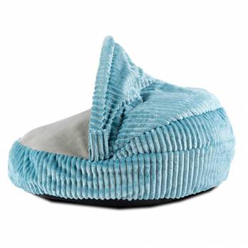 Ibanez – מיטת מערה קורדרוי רכה – כחול