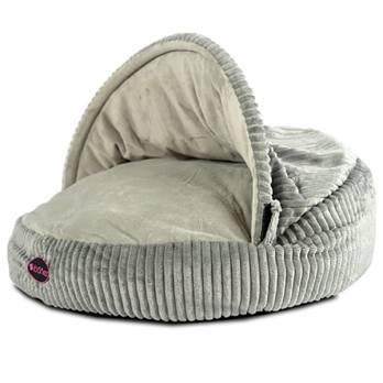 Ibanez – מיטת מערה קורדרוי רכה – אפור