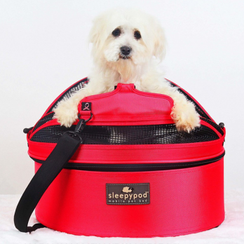 Sleepypod – מיטה / מנשא / מושב רכב לכלבים וחתולים – אדום