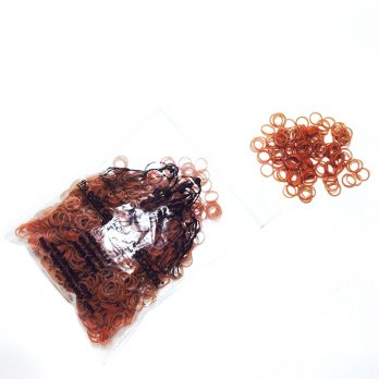 "LaineeLTD – גומיות לשיער – 0.79 ס""מ – יורקשר טרייר במגוון צבעים"