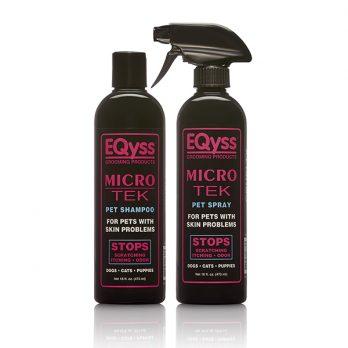 EQyss – שמפו ותרסיס מסייע לעור מגורה Micro – Tek Shampoo + Spray