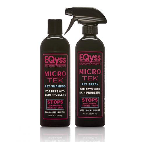 EQyss - שמפו ותרסיס מסייע לעור מגורה Micro - Tek Shampoo + Spray