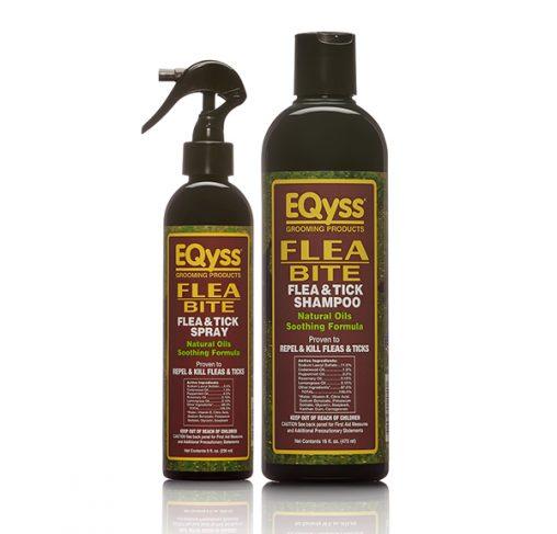 EQyss - שמפו ותרסיס כמרגיע אחרי לעקיצות פרעושים Flea Bite Shampoo + Spray