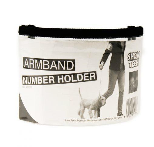 Show Tech - רצועת זרוע עם כיס למספר מציג לתערוכות כלבים
