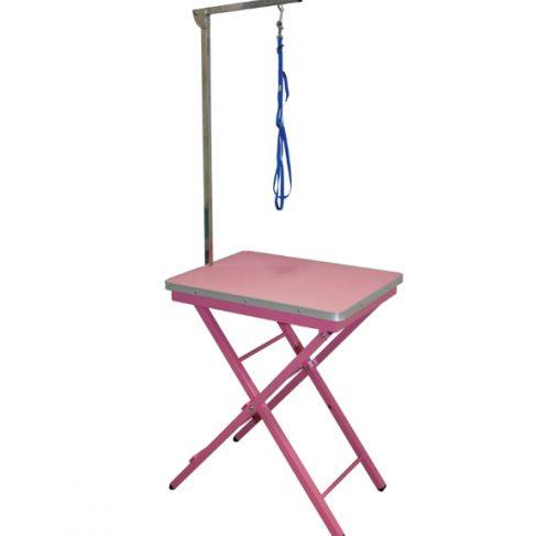 """Show Tech - שולחן תערוכות קטן 60x45x73-82 ס""""מ - ורוד"""
