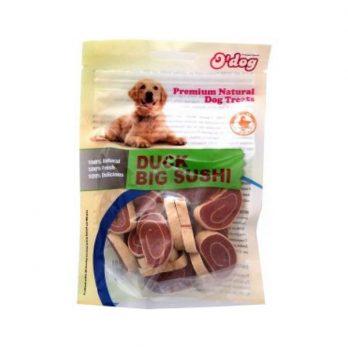 O'dog – חטיף רך לכלבים על בסיס ברווז ודג בקלה בצורת סושי 100g