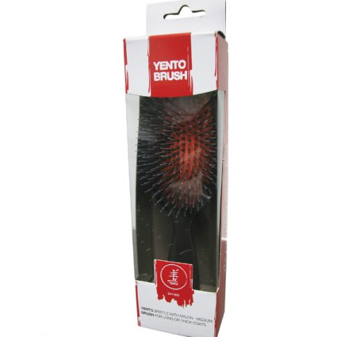 YENTO - מברשת שיער זיפים חזיר 100% טבעי בוגר וניילון S
