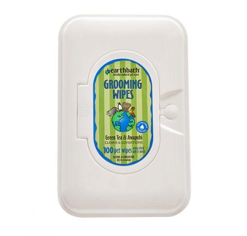 EarthBath - מגבונים לניקוי - תה ירוק וזנגביל פראי GROOMING WIPES