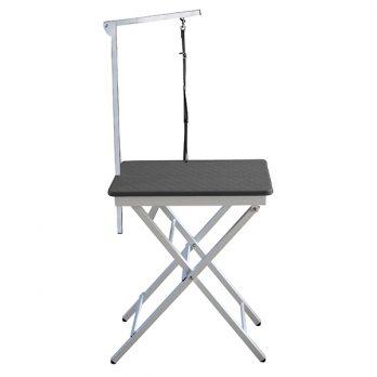 """Show Tech – שולחן תערוכות קטן 60x45x73-82 ס""""מ – שחור"""