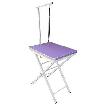 """Show Tech – שולחן תערוכות קטן 60x45x73-82 ס""""מ – סגול"""