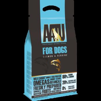 AATU – מזון לכלבים – סלמון והרינג