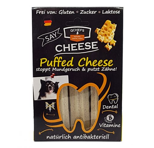 QChefs - Puffed Cheese - חטיף דנטלי טבעי ובריא לכלבים