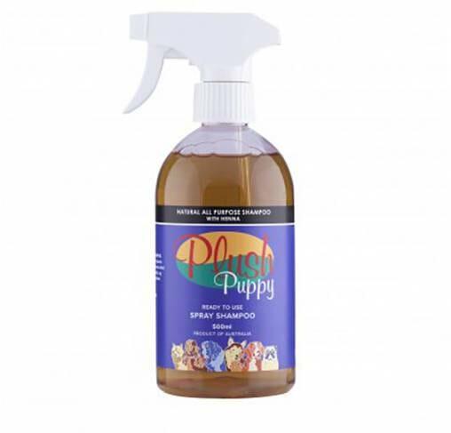 Plush Puppy - תרסיס שמפו טבעי לכל סוגי הפרוות המכיל חינה RTU
