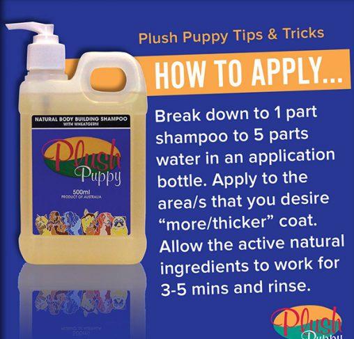 Plush Puppy - שמפו טבעי לעובי ונפח המכיל נבטי חיטה