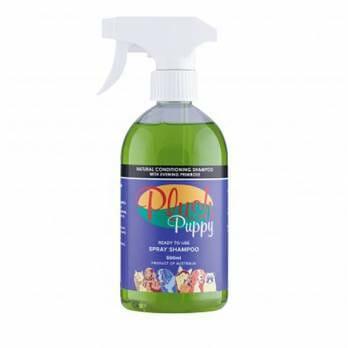 Plush Puppy – תרסיס שמפו טבעי מעניק לחות עם שמן נר הלילה- RTU