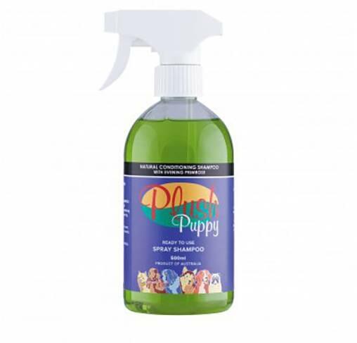 Plush Puppy - תרסיס שמפו טבעי מעניק לחות עם שמן נר הלילה- RTU