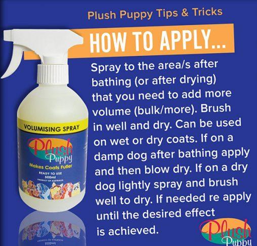 Plush Puppy - ספריי הברשה לעובי ונפח מוכן לשימוש VOLUMIZING SPRAY