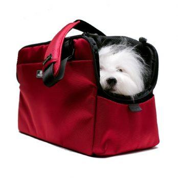 Sleepypod Atom – מנשא לכלבים וחתולים מורשה טיסה אדום תות