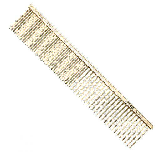 "UTSUMI - מסרק 25 ס""מ שיניים באורך 4 ס""מ 50/50 - Eco #2 - זהב"