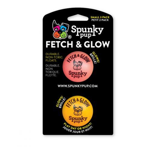 Spunky Pup - צעצוע זריקה כדור זוהר בחושך FETCH & GLOW