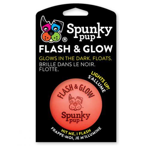 Spunky Pup - צעצוע כדור מהבהב זוהר בחושך