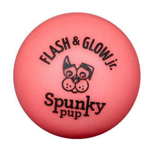 Spunky Pup - צעצוע כדור מהבהב זוהר בחושך JR - כלבים קטנים