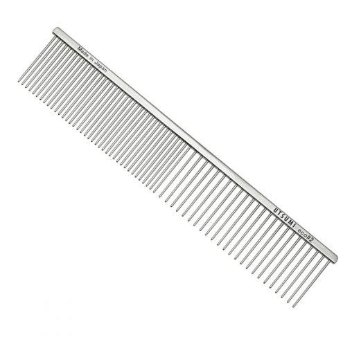 "UTSUMI - מסרק 25 ס""מ שיניים באורך 4 ס""מ 50/50 - Eco #2 - כסף"