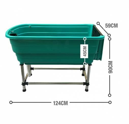 Show Tech - אמבטיה לשימוש ביתי / מקצועי לכלבים גדולים + רמפה