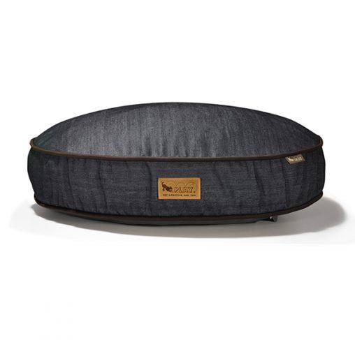 P.L.A.Y - מיטה עגולה ג'ינס / חום ROUND BED - DENIM - BROWN