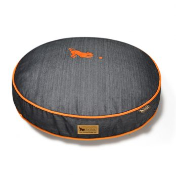 P.L.A.Y – מיטה עגולה ג'ינס / כתום ROUND BED – DENIM – ORANGE
