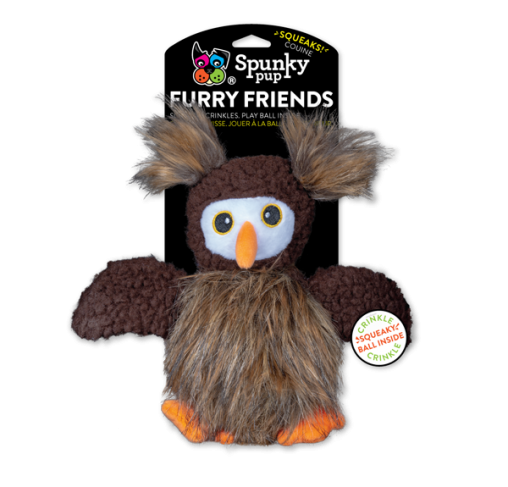 Spunky Pup - בובת צעצוע Owl Furry Friends