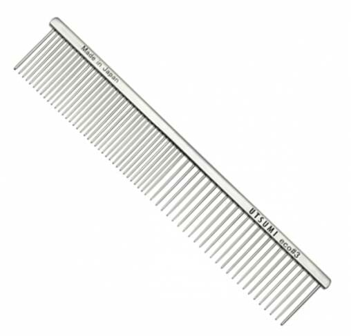 "UTSUMI - מסרק 19 ס""מ שיניים באורך 3 ס""מ 50/50 - Eco #3 - כסף"