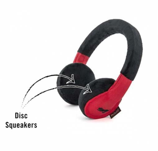 Pet Play - צעצוע בד בצורת אוזניות - ECO Play Globetrotter Collection Headphones