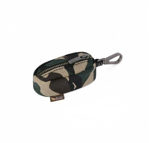 P.L.A.Y - נרתיק נשיאה לשקיות צרכים - Proper Pup Poop Bag Dispenser - Army Green/Chocolate