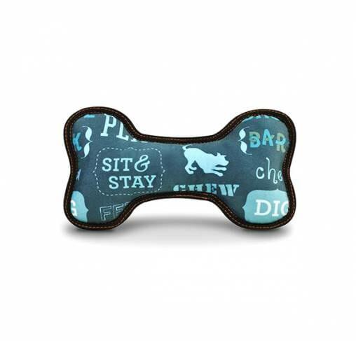 Pet Play - צעצוע בד בצורת עצם ג׳ינס - ECO Play Bone Denim
