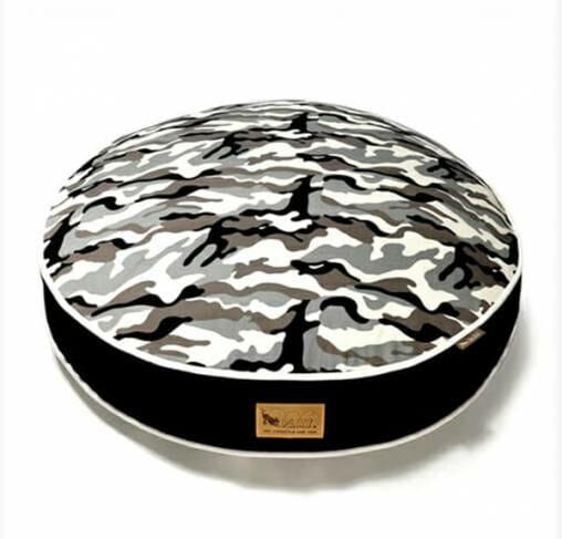 P.L.A.Y - מיטה עגולה צבעי הסוואה ROUND BED - White Camo M
