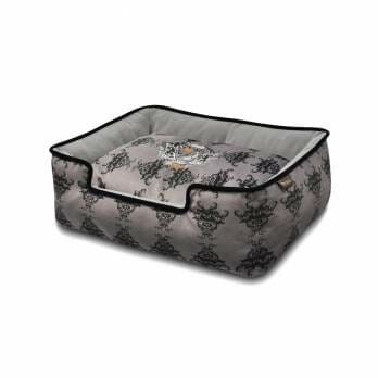 P.L.A.Y – מיטה מלכותית  RECTANGULAR –  Royal Crest Lounge Bed Ivory Black/Cool Gray