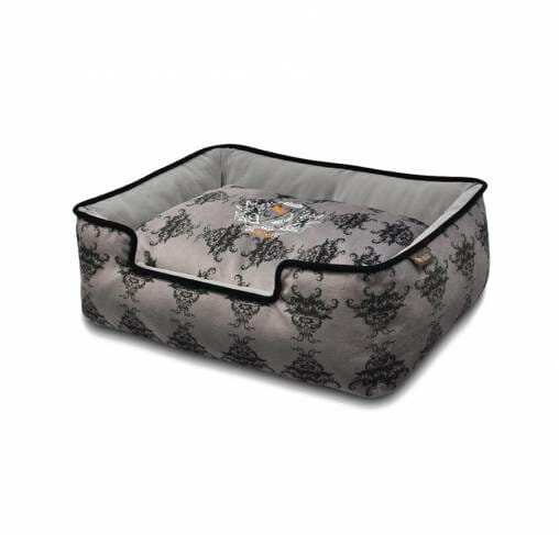 P.L.A.Y - מיטה מלכותית  RECTANGULAR -  Royal Crest Lounge Bed Ivory Black/Cool Gray