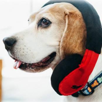 Pet Play – צעצוע בד בצורת אוזניות – ECO Play Globetrotter Collection Headphones