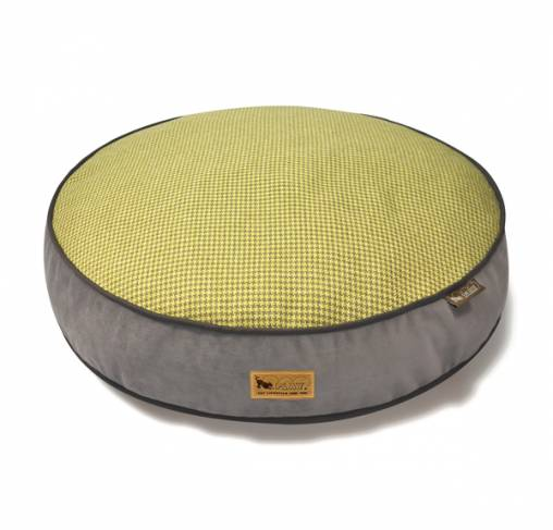 P.L.A.Y - מיטה עגולה צהובה ROUND BED - Houndstooth - Buttercup Yellow