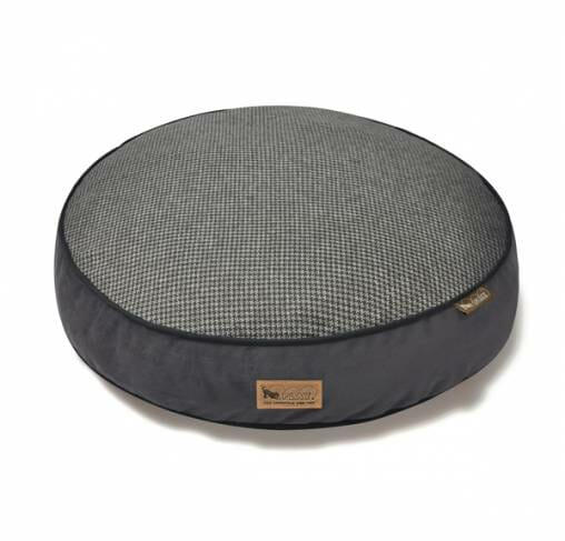 P.L.A.Y - מיטה עגולה אפורה ROUND BED - Houndstooth - Shadow Gray