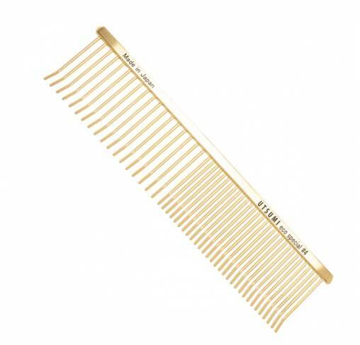 "UTSUMI - מסרק 19 ס""מ ECO Special Comb #4 - זהב"