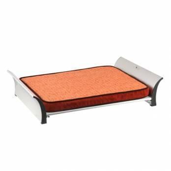 P.L.A.Y – מיטה מוגבהת עם קצף זכרון + כיסוי מיטה אפור נוסף Memory Foam Bed – Orange