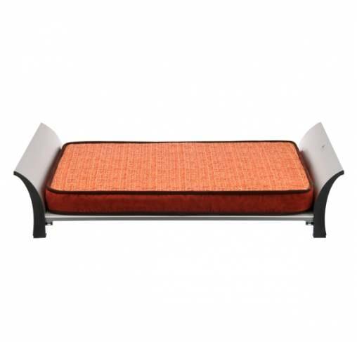 P.L.A.Y - מיטה מוגבהת עם קצף זכרו ן+ כיסוי מיטה כתום נוסף Memory Foam Bed - Grey