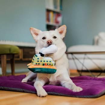 Pet Play – צעצוע בד בצורת מעבורת – ECO Play Canine Commute Collection