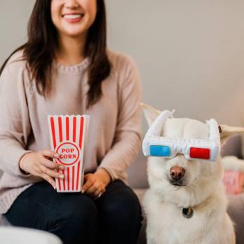 Pet Play – צעצוע בד בצורת משקפי תלת מימד – ECO Play Cinema Collection