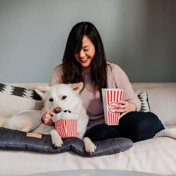 Pet Play – צעצוע בד בצורת גביע פופקורן – ECO Play Cinema Collection